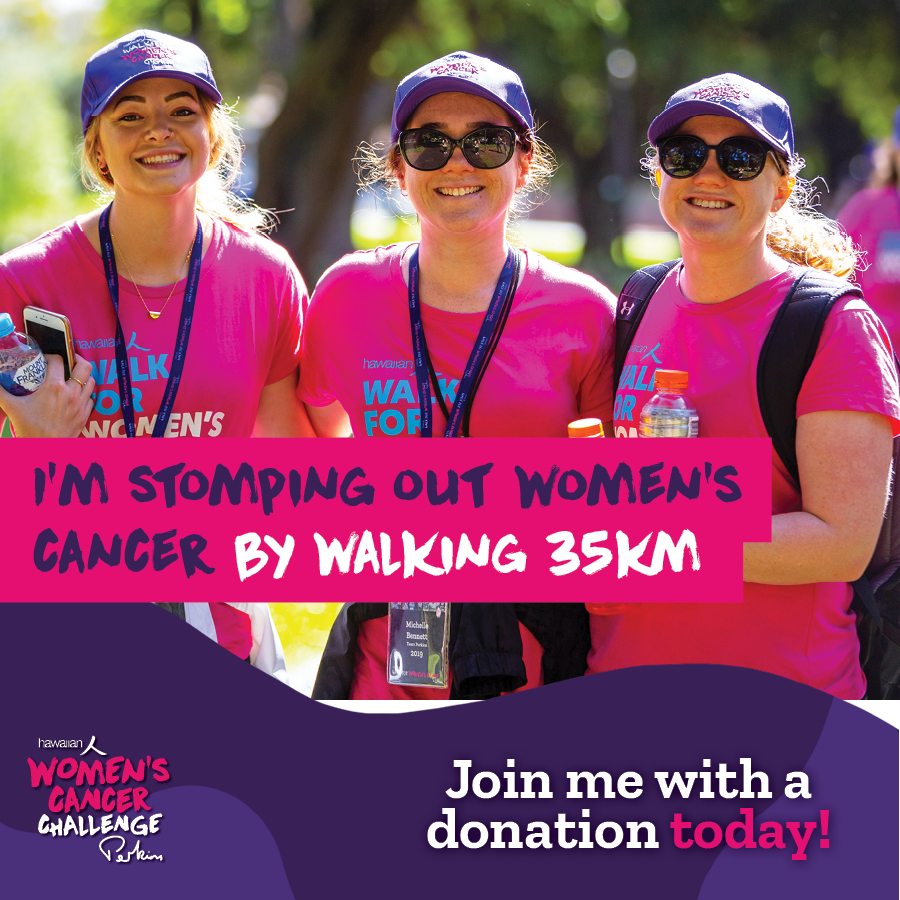 I am walking 35km -stomping out cancer!